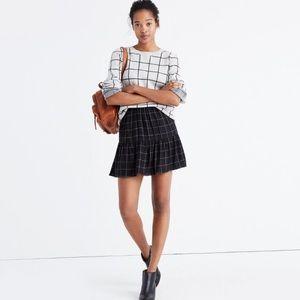 Madewell windowpane skirt